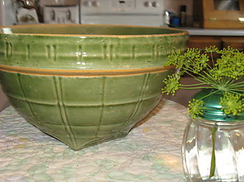 Green Antique Bowl