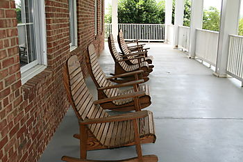 Side porch at P. Buckley Moss Museum