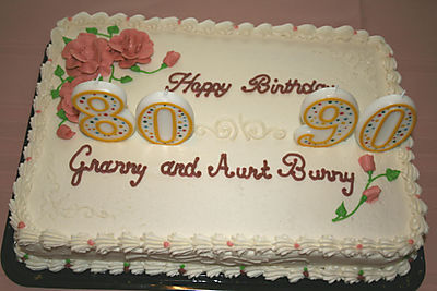 Granny's & Aunt Bunny's B'day cake