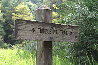 Trimble Mountain Trail sign