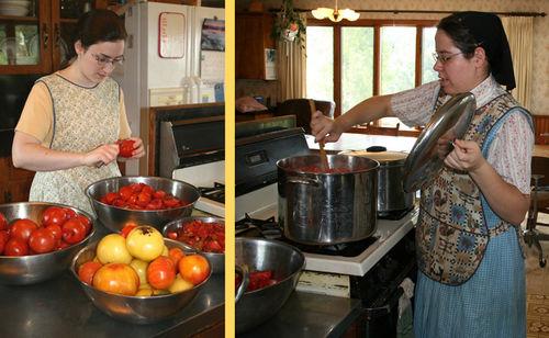 Quartering and stirring