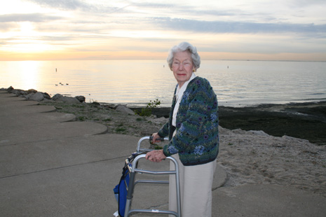 Aunt Bunny at Lake Erie