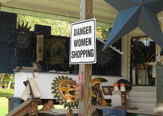 Amish Shop Sign--Danger Women Shopping!