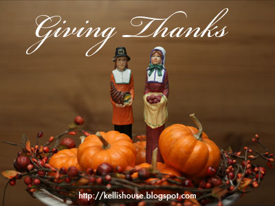 Giving Thanks series at Kelli's blog
