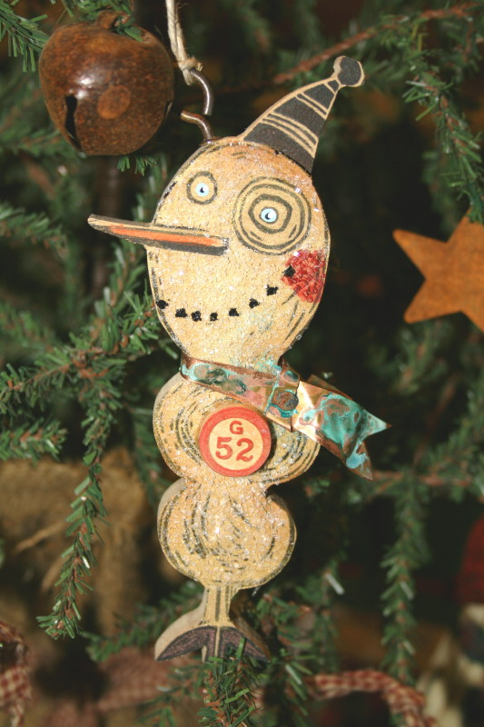 Michelle Allen's snowman ornament
