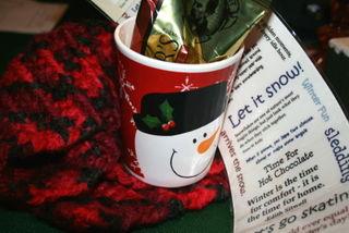 snowman mug + other treats