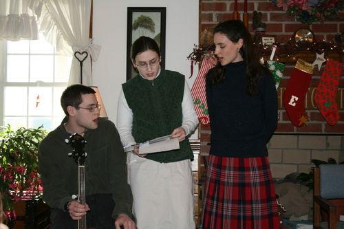 Jonathan, Sarah, and Hannah singing