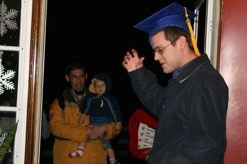 Jonathan with his graduation cap
