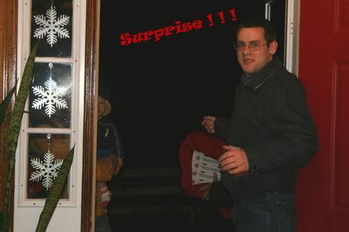 Jonathan answering the door