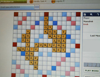 Lexulous board (scrabble)
