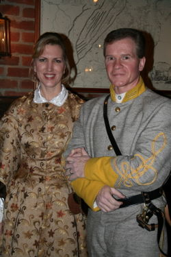 Doug and Carla in period dress