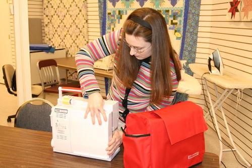 Sarah in class