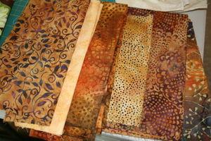 Orange fabrics