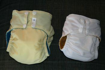 Medium and newborn pocket diapers
