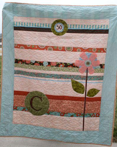 Wallflower quilt for Chris's 50th birthday