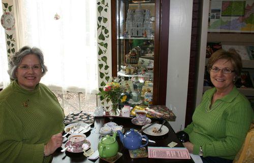 Deb and Carolyn at Mrs. Hardesty's
