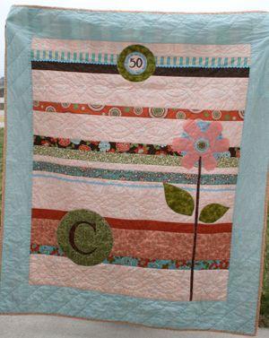 50th birthday quilt