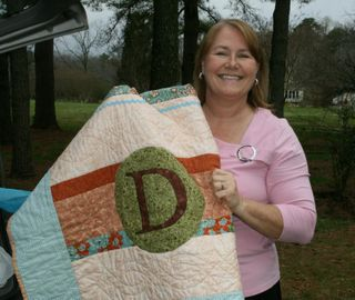 Dorothy with her quilt