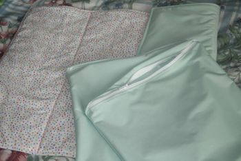 Changing pad and wet bags
