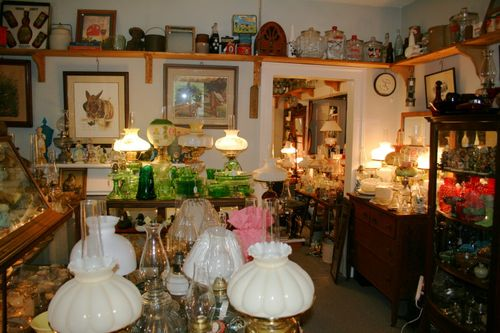 inside the shop - what beautiful lamps!