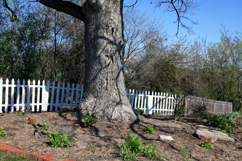 Flower bed picket fence