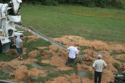 Excavator, crew, and builder
