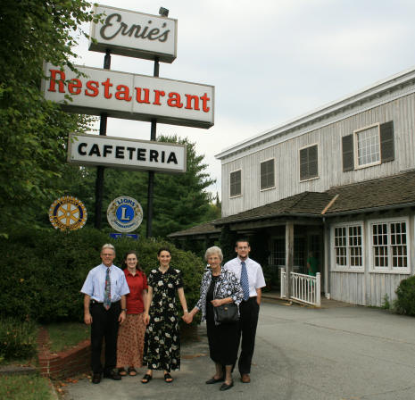 The gang in front of Ernie's