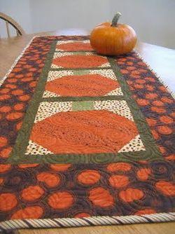 Pumpkin Table Runner by Green Fairy Quilts