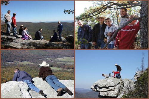 Hiking scenes