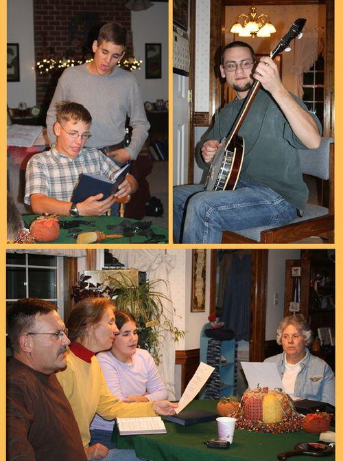 Scenes from hymn-singing