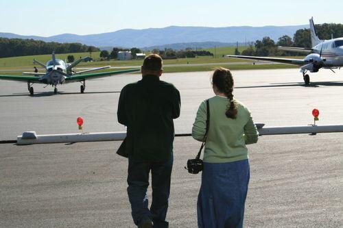 Mr E and Sarah at Shenandoah Valley Airport
