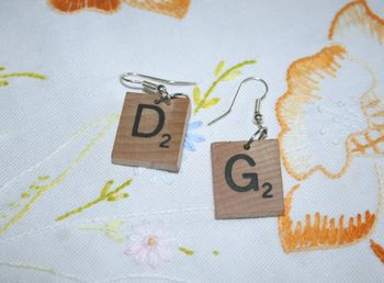 Scrabble Tile Earrings ~ Check them out!