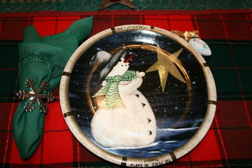 Star Light Star Bright ~ Snowman Plate #1