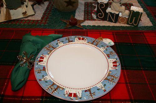 Snowmen in a circle ~ Plate #5