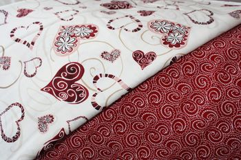 Red fabric ~ don'tcha love it?