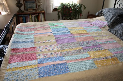 Blocks for another Piece of Cake quilt from the Hello Betty fabric line