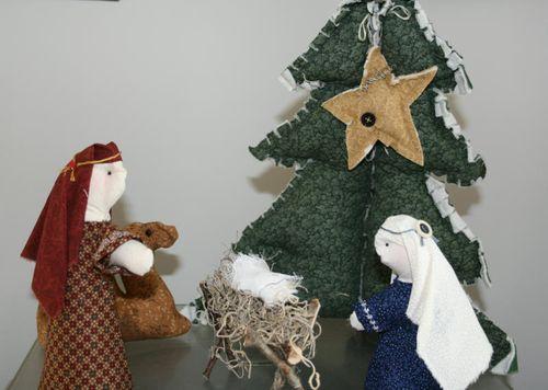 Handmade nativity set