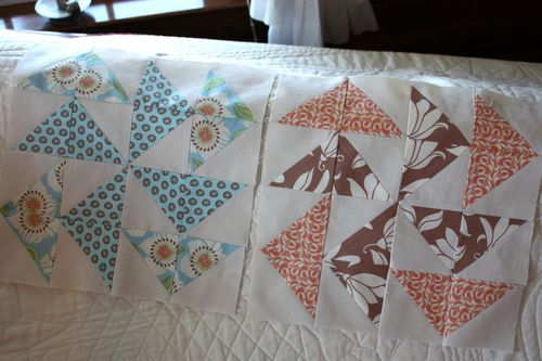 Pinwheel Sampler ~ Blocks 11 & 12