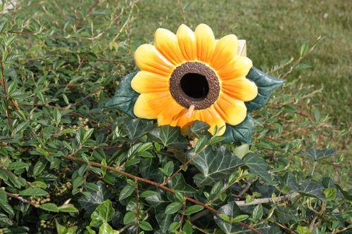 Sunflower birdhouse from my friend Chris