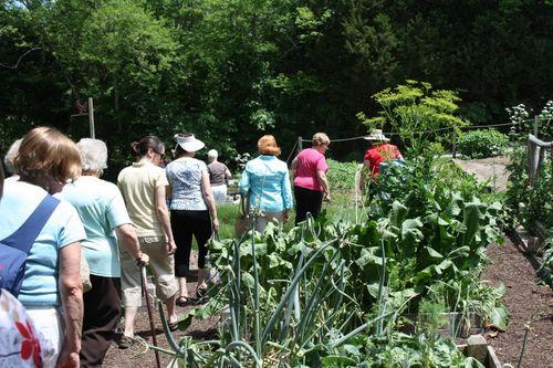 trekking thru the gardens headed to the greenhouses