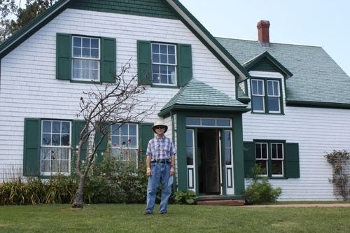Tom at the original site that inspired Anne of Green Gables