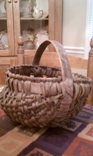Antique basket made by Papa 80 or so years ago