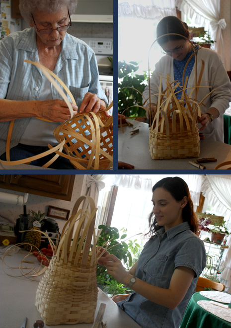weaving baskets
