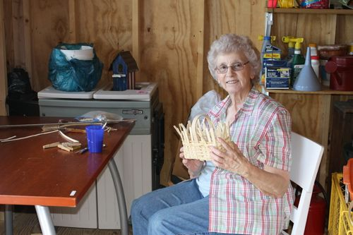 Granny in her workshop