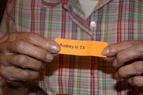 Audry ~ You won! Send us your mailing address!