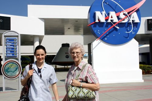 Hannah & Granny at Kennedy Space Center