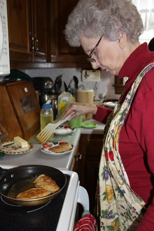 Granny in the kitchen