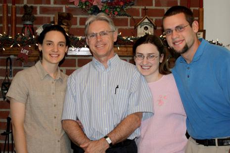 Dad, Hannah, Jonathan, and Sarah
