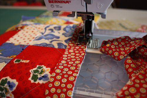 sewing on binding