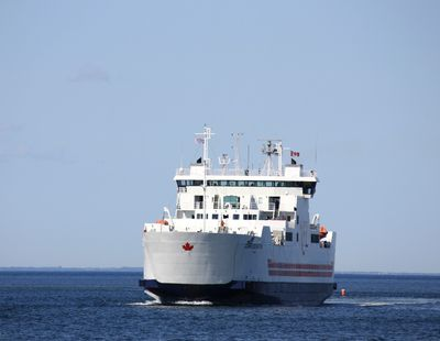 our ferry arriving to take us over to PEI!